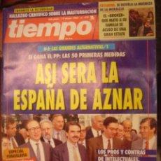 Coleccionismo de Revista Tiempo: REVISTA TIEMPO Nº 576. ASI SERA LA ESPAÑA DE AZNAR. Lote 35755526