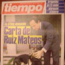 Coleccionismo de Revista Tiempo: REVISTA TIEMPO Nº193. CARTA DE RUIZ MATEOS. Lote 35758467