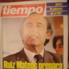 Coleccionismo de Revista Tiempo: REVISTA TIEMPO Nº 181. RUIZ MATEOS PREPARA UN WATEGATE CONTRA EL GOBIERNO. Lote 35758600