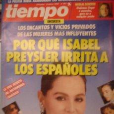 Coleccionismo de Revista Tiempo: REVISTA TIEMPO Nº 401. PORQUE ISABEL PREYSLER IRRITA A LOS ESPAÑOLES. Lote 35759743
