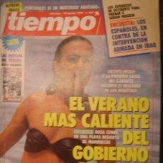 Coleccionismo de Revista Tiempo: REVISTA TIEMPO Nº 433. EL VERANO MAS CALIENTE DEL GOBIERNO DE FELIPE. Lote 35760443