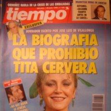 Coleccionismo de Revista Tiempo: REVISTA TIEMPO Nº 430. LA BIOGRAFIA QUE PROHIBIO TITA CERVERA. Lote 35760492