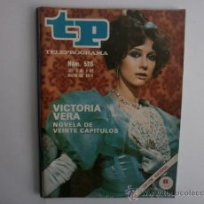 Coleccionismo de Revista Tiempo: TELEPROGRAMA.TP NUM.526. AÑO1976. VICTORIA VERA. PORTADA E INTERIOR.. Lote 35790080