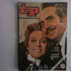 Coleccionismo de Revista Tiempo: TELEPROGRAMA.TP NUM.244. AÑO 1970. IRENE G.CABA, ANTONIO FERRANDIS. PORTADA E INTERIOR.. Lote 35807540