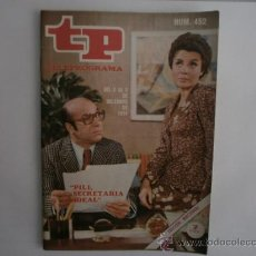 Coleccionismo de Revista Tiempo: TELEPROGRAMA.TP NUM.452. AÑO 1974. ELENA MARIA TEJEIRO, JOSE MARIA PRADA. PORTADA E INTERIOR.. Lote 35828182