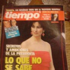 Coleccionismo de Revista Tiempo: REVISTA TIEMPO Nº 388 LO QUE NO SE SABE DE CARMEN ROMERO. Lote 35996673