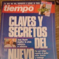 Coleccionismo de Revista Tiempo: REVISTA TIEMPO Nº 323. CLAVES Y SECRETOS DEL NUEVO GOBIERNO. Lote 35996806