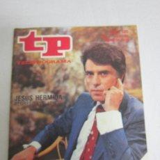 Coleccionismo de Revista Tiempo: TP PROGRAMACIÓN SEMANAL. JESUS HERMIDA. (DEL 21 AL 27 DE MAYO DE 1979). Lote 36186564