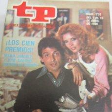 Coleccionismo de Revista Tiempo: TP MARIA JIMENEZ Y PEPE SANCHO.(DEL 7 AL 13 DE ABRIL DE 1980). Lote 36945760