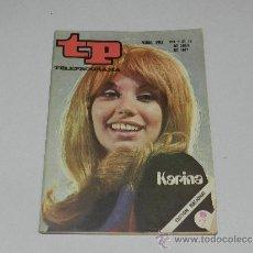 Coleccionismo de Revista Tiempo: (M-17) REVISTA TP TELEPROGRAMA NUM 261 , ABRIL 1971, KARINA , SEÑALES DE USO. Lote 37037702