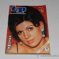 Coleccionismo de Revista Tiempo: (M-17) REVISTA TP TELEPROGRAMA NUM 147, ENERO 1969,SALOME, SEÑALES DE USO. Lote 37053618