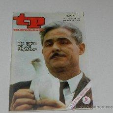 Coleccionismo de Revista Tiempo: (M-17) REVISTA TP TELEPROGRAMA NUM 207, MARZO 1970