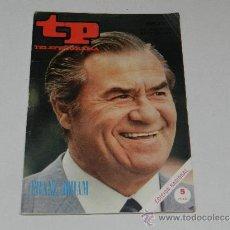 Coleccionismo de Revista Tiempo: (M-17) REVISTA TP TELEPROGRAMA NUM 216 , MAYO 1970, FRANZ JOHAN, SEÑALES DE USO. Lote 204991435