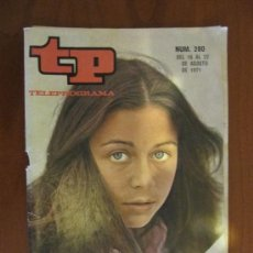 Colecionismo da Revista Tiempo: TELEPROGRAMA TP Nº 280 DEL 16 AL 22 DE AGOSTO DE 1971. EMMA COHEN. . Lote 37130708