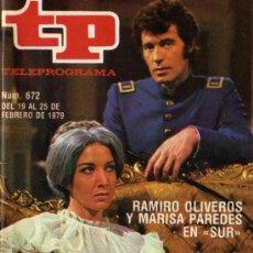Coleccionismo de Revista Tiempo: TP RAMIRO OLIVEROS Y MARISA PAREDES (DEL 19 AL 25 DE FEBRERO DE 1979). Lote 37148815
