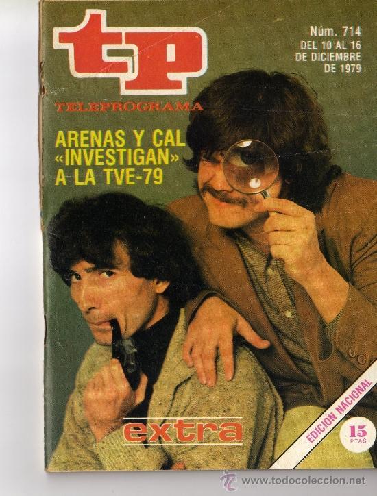 TP PROGRAMACIÓN SEMANAL-ARENAS Y CAL(DEL 10 AL 16 DE DICIEMBRE DE 1979) (Coleccionismo - Revistas y Periódicos Modernos (a partir de 1.940) - Revista Tiempo)