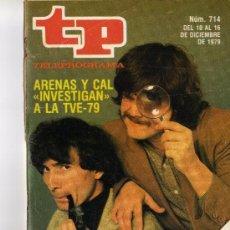 Coleccionismo de Revista Tiempo: TP PROGRAMACIÓN SEMANAL-ARENAS Y CAL(DEL 10 AL 16 DE DICIEMBRE DE 1979). Lote 37595198