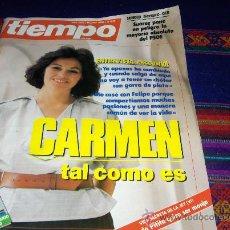 Coleccionismo de Revista Tiempo: TIEMPO Nº 215. 16 JUNIO 1986. CARMEN ROMERO. REGALO LA REVISTA Nº 112.. Lote 38960186