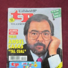 Coleccionismo de Revista Tiempo: TP. TELEPROGRAMA Nº 1400. 30 DE ENERO AL 5 DE FEBRERO DE 1993. ANGEL CASAS EN PORTADA. Lote 40483885