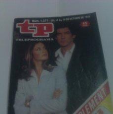 Coleccionismo de Revista Tiempo: REVISTA TP TELEPROGRAMA AÑO 1986 PORTADA REMINGTON STEELE EDICION CATALUÑA. Lote 40955281