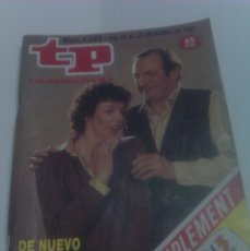 Coleccionismo de Revista Tiempo: REVISTA TP TELEPROGRAMA AÑO 1987 PORTADA ESTO SE HUNDE ED CATALUÑA. Lote 40955455