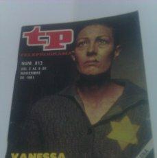 Coleccionismo de Revista Tiempo: REVISTA TP TELEPROGRAMA AÑO 1978 PORTADA JOSE MARIA IÑIGO ED CATALUÑA. Lote 40955781