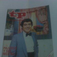 Coleccionismo de Revista Tiempo: REVISTA TP TELEPROGRAMA AÑO 1980 PORTADA ANDRES PAJARES ED CATALUÑA. Lote 40955962