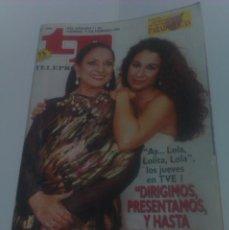 Coleccionismo de Revista Tiempo: REVISTA TP TELEPROGRAMA AÑO 1995 PORTADA LOLA FLORES LOLITA ED CATALUÑA. Lote 40957785