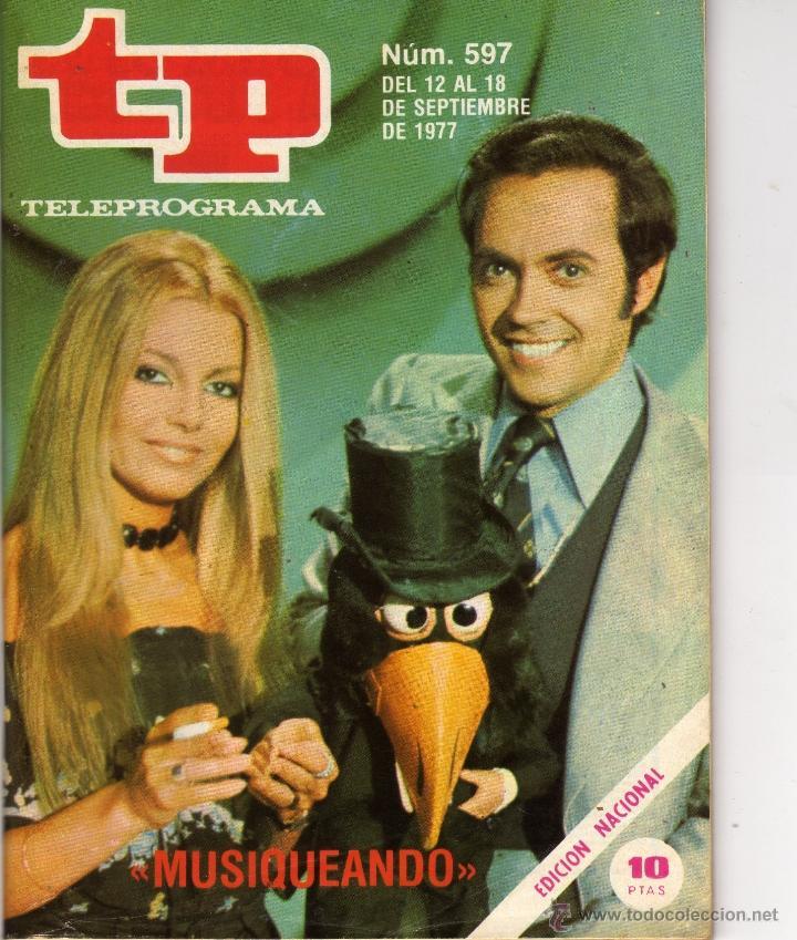 TP PROGRAMACIÓN SEMANAL EVA GLORIA/JOSE LUIS MORENO(DEL 12 AL 18 DE SEPTIEMBRE DE 1977) (Coleccionismo - Revistas y Periódicos Modernos (a partir de 1.940) - Revista Tiempo)