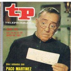 Coleccionismo de Revista Tiempo: TP Nº 893 AÑO 1983 PACO MARTINEZ SORIA. Lote 41738825