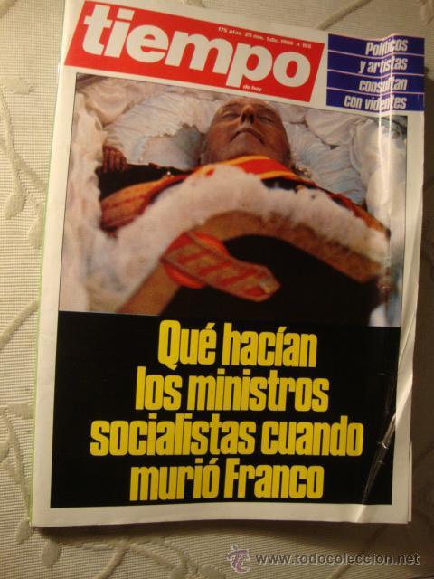 REVISTA TIEMPO FRANCO MUERTO (Coleccionismo - Revistas y Periódicos Modernos (a partir de 1.940) - Revista Tiempo)