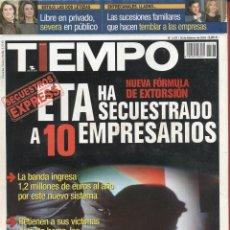 Coleccionismo de Revista Tiempo: REVISTA TIEMPO - Nº 1137- 16-II-2004 - ETA HA SECUESTRADO A 10 EMPRESARIOS. Lote 42722836