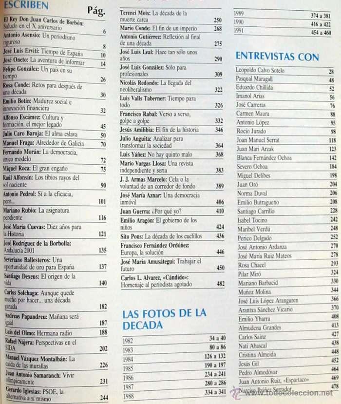 Coleccionismo de Revista Tiempo: TIEMPO DE HOY / DIEZ AÑOS 1982 / 1992 - 10º ANIVERSARIO - 1992 - VER ÍNDICE - Foto 2 - 43191128