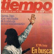 Colecionismo da Revista Tiempo: TIEMPO DE HOY. Nº 49. MAYO 1982. (CONTRAPORTADA EL TEBEO IBÉRICO. MARTINMORALES)(ST/B14). Lote 43274683