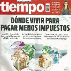 Coleccionismo de Revista Tiempo: REVISTA TIEMPO 1625 . 8 A 14 NOVIEMBRE 2013. DÓNDE VIVIR PARA PAGAR MENOS IMPUESTOS.. Lote 43331430