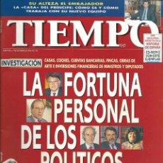 Coleccionismo de Revista Tiempo: TIEMPO CON - LA FORTUNA DE LOS POLITICOS - FELIPE HEREDERO EN LA INTIMIDAD Nº 753 DE 1996. Lote 43697314