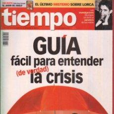 Coleccionismo de Revista Tiempo: REVISTAS TIEMPO-Nº 1379- 26 SEPTIEMBRE AL 2 OCTUBRE 2008-GUIA FACIL PARA ENTENDER LA CRISIS. Lote 45029767
