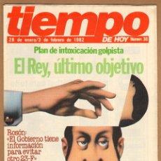 Coleccionismo de Revista Tiempo: REVISTA TIEMPO - EL REY, ÚLTIMO OBJETIVO Nº 36 / 1982. Lote 45326019