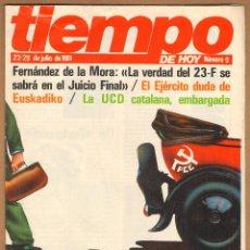 Coleccionismo de Revista Tiempo: REVISTA TIEMPO - X CONGRESO DEL PCE Nº 9 / 1981. Lote 45326059