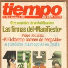 Coleccionismo de Revista Tiempo: REVISTA TIEMPO - EL AÑO QUE ESPAÑA TEMBLÓ Nº 30 / 1981. Lote 45326079