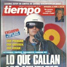 Coleccionismo de Revista Tiempo: TIEMPO Nº 339 CON LO QUE CALLAN LOS MILITARES - LA REINA - KENNEDY AÑO 1988. Lote 45401924