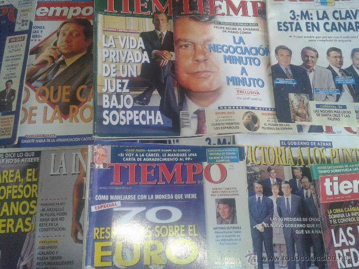 LOTE 34 REVISTAS TIEMPO ENTRE 1983-2003 (Coleccionismo - Revistas y Periódicos Modernos (a partir de 1.940) - Revista Tiempo)