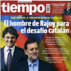 Coleccionismo de Revista Tiempo: REVISTA TIEMPO [EL HOMBRE DE RAJOY PARA EL DESAFÍO CATALÁN][DEL 17 AL 23 DE ENERO DE 2014]. Lote 45943282