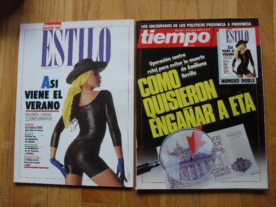 REVISTA TIEMPO , MAYO 1988, NUMERO 313, CON SUPLEMENTO (Coleccionismo - Revistas y Periódicos Modernos (a partir de 1.940) - Revista Tiempo)
