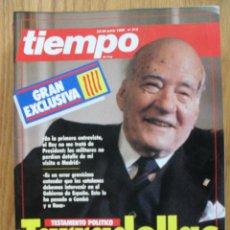 Coleccionismo de Revista Tiempo: REVISTA TIEMPO DE HOY, JUNIO 1988, NUMERO 319, TARRADELLAS. Lote 47064361