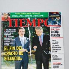 Coleccionismo de Revista Tiempo: REVISTA TIEMPO.NUM.810-AÑO 1997: AZNAR-FELIPE GONZALEZ, FIN DEL PACTO DE SILENCIO-TRABAJO SEGURO. Lote 48656739