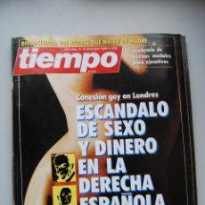 Coleccionismo de Revista Tiempo: REVISTA TIEMPO.NUM.239-AÑO 1986: ESCANDALO DE SEXO Y DINERO EN LA DERECHA ESPAÑOLA-TXIKI BENEGAS. Lote 182669798