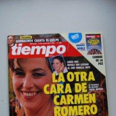 Coleccionismo de Revista Tiempo: REVISTA TIEMPO.NUM.496-AÑO 1991: CARMEN ROMERO-LOS PLANES DE GUERRA-GORBACHOV-CUMBRE DE LA PAZ. Lote 48671849