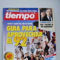 Coleccionismo de Revista Tiempo: REVISTA TIEMPO.NUM.505-AÑO 1992: GUIA PARA APROVECHAR 1992-BENEGAS-MARTES Y TRECE. Lote 48672169