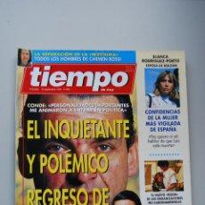 Coleccionismo de Revista Tiempo: REVISTA TIEMPO.NUM.646-AÑO 1994: MARIO CONDE, INQUIETANTE REGRESO-AZNAR-BLANCA-CARMEN ROSSI. Lote 136784878
